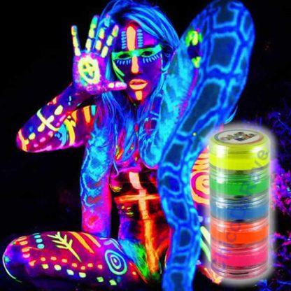 Kit tinta cremosa fluorescente 5 cores