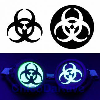 Adesivo biohazard para lentes de cybergoggles