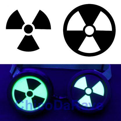 Adesivo radioativo para lentes de cybergoggles