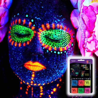 Kit tinta líquida fluorescente 6 cores