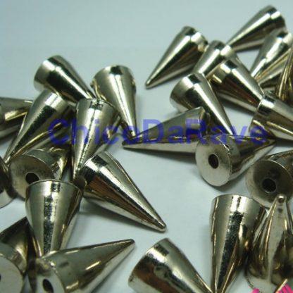 Spike 12x7mm cone prata plástico