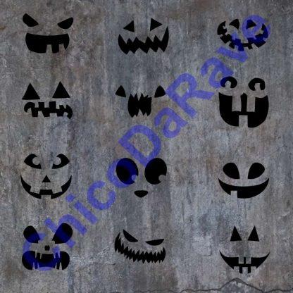 Kit adesivos de rostos assustadores