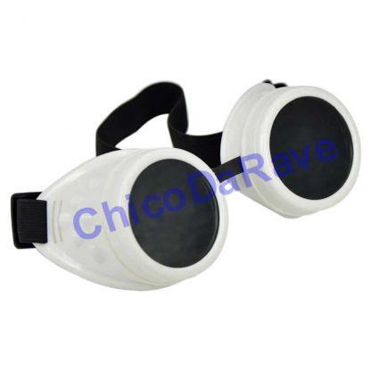 Cyber goggles branco fluorescente
