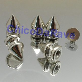 Spike 12x8mm seta prata metal (parafuso)