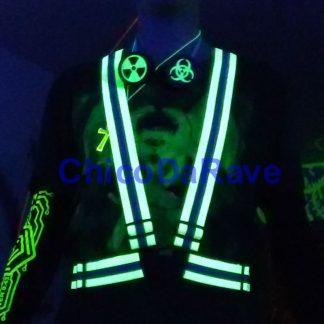 Suspensório verde fluorescente
