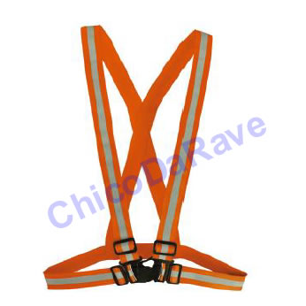 Suspensório laranja fluorescente