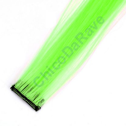 Mecha verde fluorescente