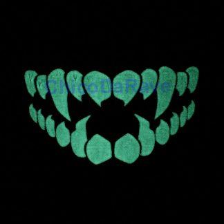 Máscara caveira fosforescente