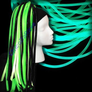 Crinolina tubular 4mm verde fluorescente