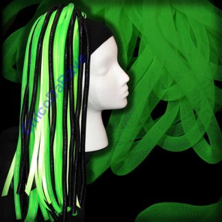 Crinolina tubular 16mm verde fluorescente