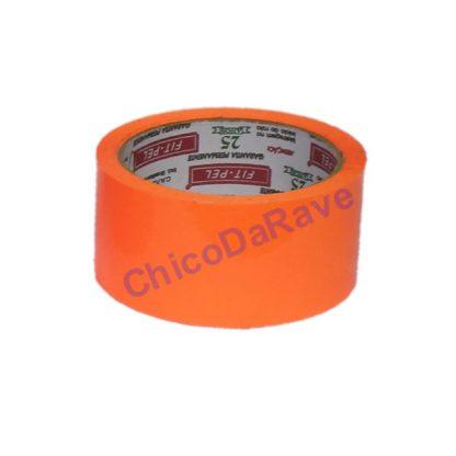 Fita adesiva laranja fluorescente