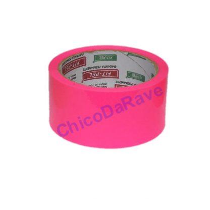 Fita adesiva rosa fluorescente