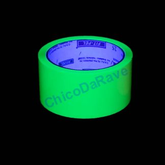 Fita adesiva verde fluorescente