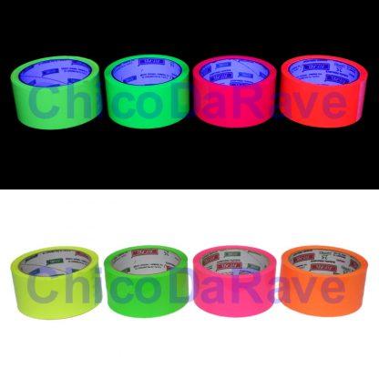 Fita adesiva fluorescente - Comparativo de cores