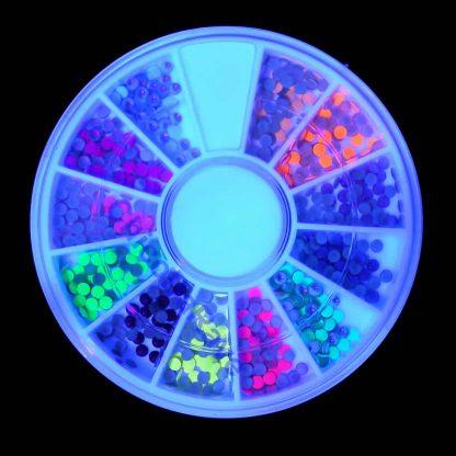 Kit strass fluorescente 12 cores