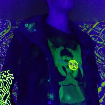 Lente 50mm radioativo amarelo fluorescente