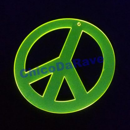 Colar paz 8cm amarelo fluorescente