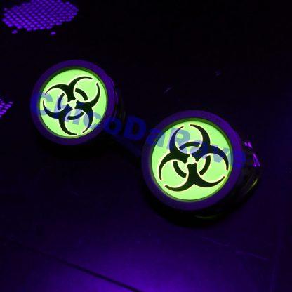 Lente 50mm biohazard amarelo fluorescente