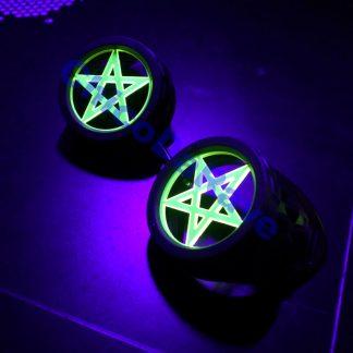 Lente 50mm pentagrama amarelo fluorescente