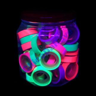 Pote fita adesiva fluorescente fina