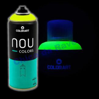 Tinta spray amarelo fluorescente Nou Colors