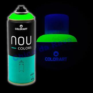 Tinta spray verde fluorescente Nou Colors